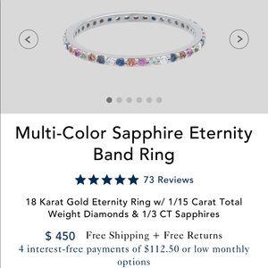 Multi Colored Sapphire Ring